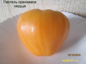 пастель оранжевое сердце (12)
