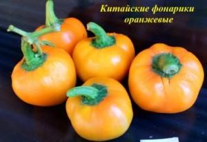 китайские фонарики оранжевые
